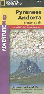 National Geographic Adventure Map Pyrenees and Andorra